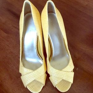 Yellow Heels / Women Shoes Size 8